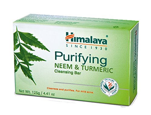 Himalaya Purifying Neem & Turmeric Cleansing Bar for Clean and Healthy Looking Skin, 4.41 Oz (125 gm) (Best Smelling Shampoo India)