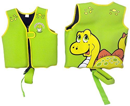 Poolmaster 50566 Learn-to-Swim Dino Swim Vest - 1-3 Years Old