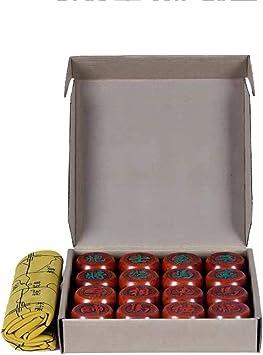 GZ Juegos de Mesa Chino Juego de ajedrez Xiangqi con cartón Cuero, la Estrategia educativa Juegos de Mesa for 2 Jugadores (Color : A, Size : 5cm/2