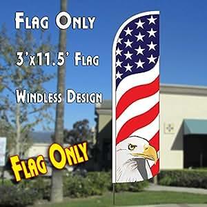 American Eagle (Waves) viento Polyknit plumas bandera (3x 11,5pies)
