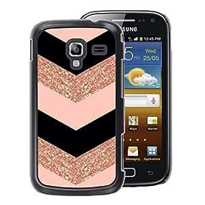 A-type Arte & diseño plástico duro Fundas Cover Cubre Hard Case Cover para Samsung Galaxy Ace 2 (Chevron Dress Fashion Glitter Gold Pattern)