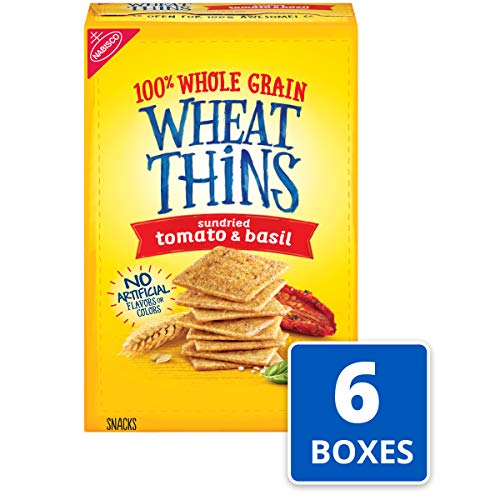 Wheat Thins Crackers (Sundried Tomato Basil, 9 Ounce Boxes, 6-Pack)