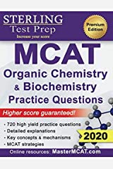 Sterling Test Prep MCAT Organic Chemistry & Biochemistry Practice Questions: High Yield MCAT Practice Questions with Detailed Explanations Paperback