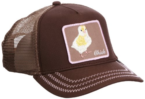 (Goorin Bros. Men_s Animal Farm Baseball Dad Hat Trucker, Brown Chick, One Size)