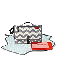 Skip Hop Baby Pronto Portable Changing Station with Cushioned Changing Mat and Wipes Case, 3 Pockets, Chevron BOBEBE Online Baby Store From New York to Miami and Los Angeles