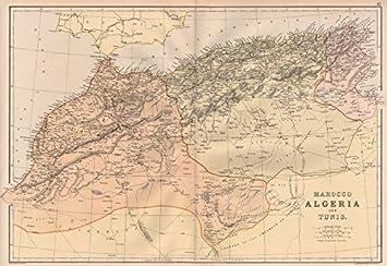 Carte De Lafrique Maghreb.Du Maghreb Afrique Du Nord Maroc Algerie Tunis Blackie Et