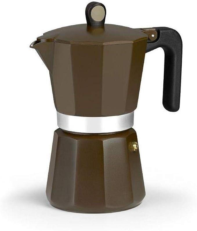 Monix New Cream - Cafetera Italiana de Aluminio, Capacidad 12 Tazas, Apta para Todo Tipo de cocinas incluida inducción: Amazon.es: Hogar