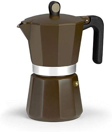 Monix New Cream - Cafetera Italiana de Aluminio, Capacidad 6 Tazas, Apta para Todo Tipo de cocinas incluida inducción: Amazon.es: Hogar