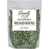 CandyOut Fried Green Peas 2 Pound Salted Green Peas in Resealable Bag