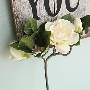 FYYDNZA Artificial Flowers 1Pc Diy Wedding Decoration Fake Flowers Gardenia Flowers Flower Home Decoration Artificial Plants,Light Pink 74