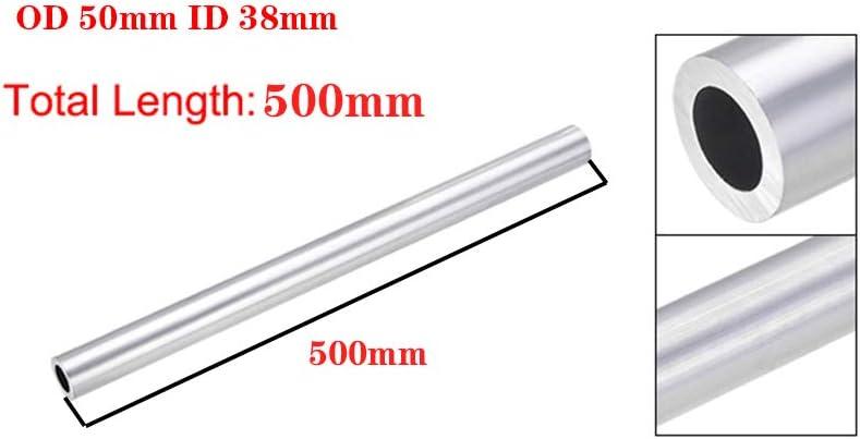 OLJF 6061 Aluminum Round Tube 500mm Length Inner Dia Seamless Aluminum Straight Tubing,OD 50mm ID 38mm