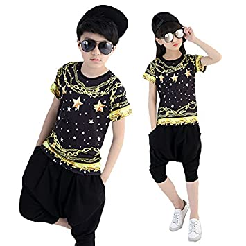 ba1eefc10 MoyuqiTM Children Jazz Street DancewearGirl And Boy Dancewear Hip Hop Stage  Costumes(130cm): Amazon.co.uk: Sports & Outdoors
