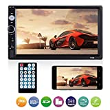 Universal Double Din Car Stereo, ESSGOO Mirror Link 7Inch Touch Screen in Dash Car Radio Receiver Audio Video Player Supports USB/FM/TF/BT/AUX/MP5 Multimedia with Remote Control