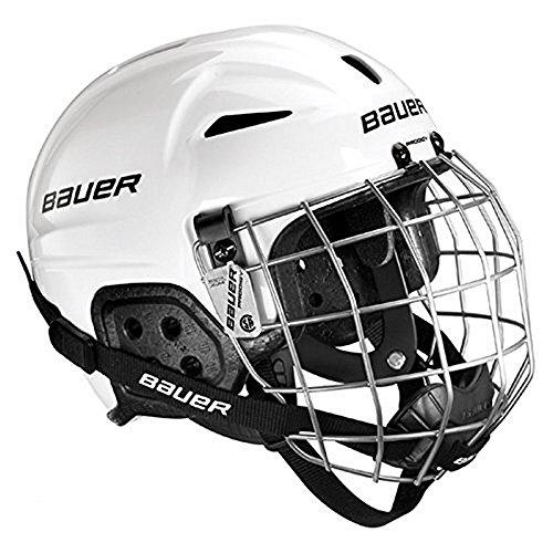 Combo Hockey Helmets Helmet (Bauer Youth LIL SPORT Helmet Combo, White)