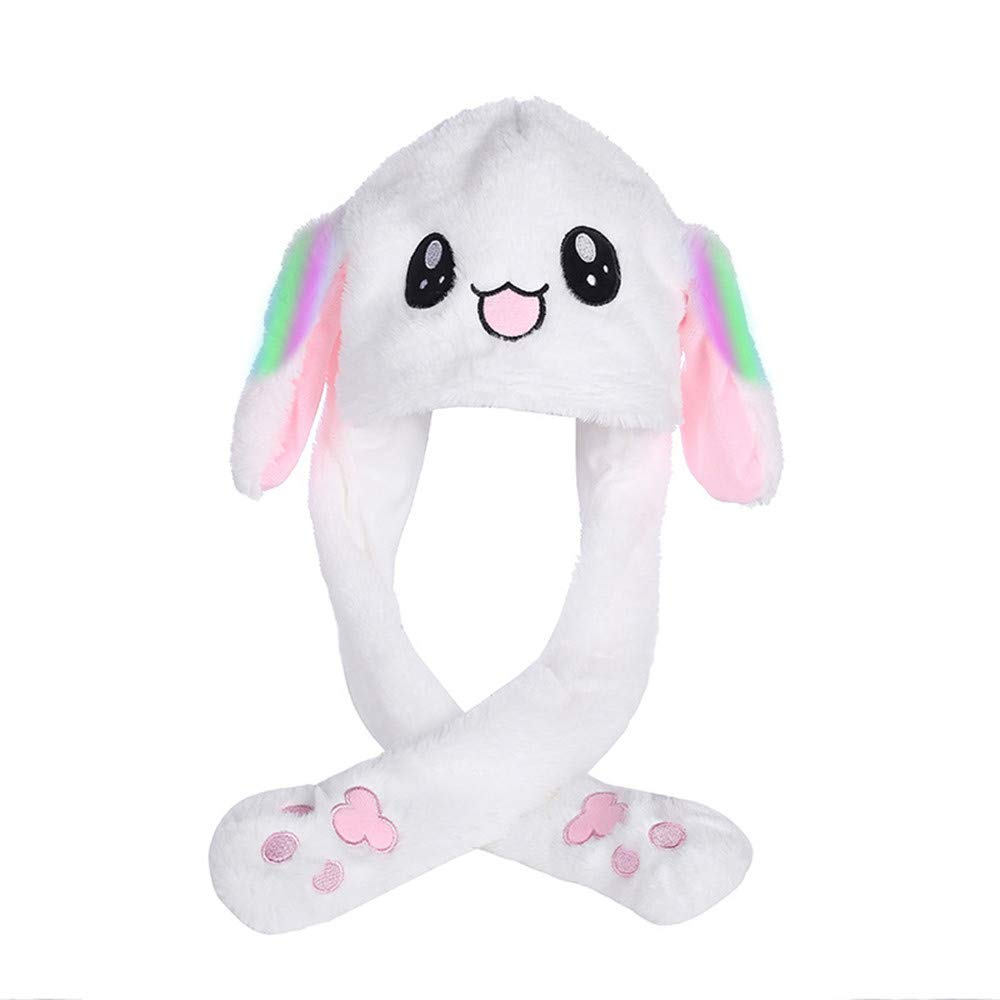 Cute Rabbit Ear Hat Can Move Airbag Magnet Cap Plush Gift Dance Toy