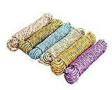 sanheng fire 10M Clothesline Rope 6 Pieces Multipurpose Household Rope Random Color