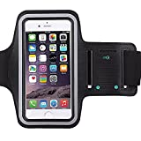 [1 Pack]Premium Water Resistant Sports Armband with Key Holder for iPhone 7 - 6 - 6S (5.5-Inch) - Galaxy s6 - s7 - S3 S4 - iPhone 5 5C 5S - Bundle with Screen Protector Full Access to Touch Screen