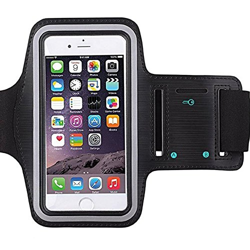 Nike Heart Rate Monitor Watch ([1 Pack]Premium Water Resistant Sports Armband with Key Holder for iPhone 7, 6, 6S (5.5-Inch), Galaxy s6,s7,S3/S4, iPhone 5/5C/5S, Bundle with Screen Protector Full Access to Touch Screen)