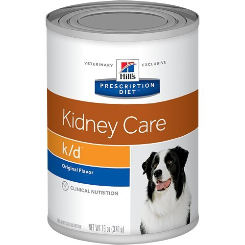 Hill's Prescription Diet k/d Kidney Care with Chicken Canned Dog Food 12/13 oz by Hill's Pet Nutrition