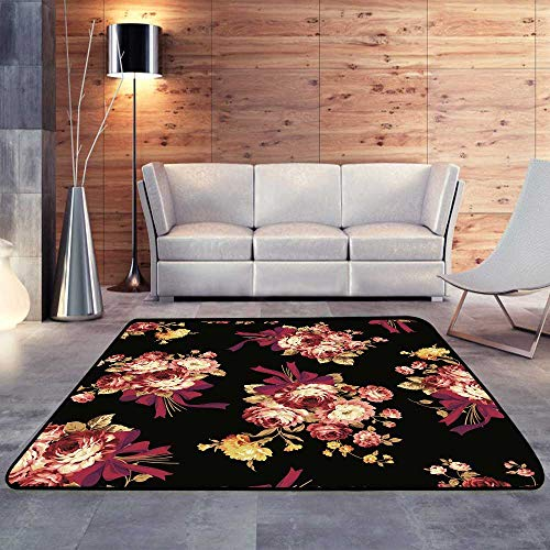 - Outdoor Carpet,Rose Bouquet patternW 47