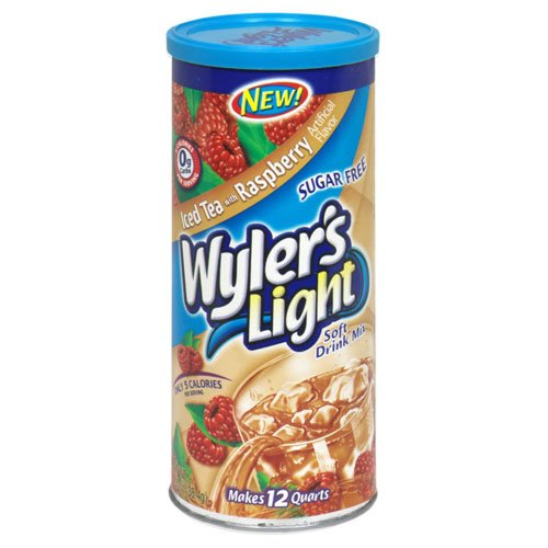 Wyler's Light Sugar Free Drink Mix, Iced Tea with Raspberry, 1.35-Ounce (Pack of 12)