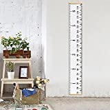 Vermogen Hanging Ruler Height Growth Chart for Baby Kids Adolescents and Adults Roll-up Height Measure Chart 7.9'' ×78.7'' Wall Decoration Growth Ruler Gift