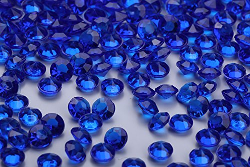 10000 pcs/pack Wedding Table Scatter Confetti Crystals Acrylic Diamonds 4.5 mm Rhinestones for Wedding, Bridal Shower, Vase Beads Decorations (royalblue) (Ten Size Table For)
