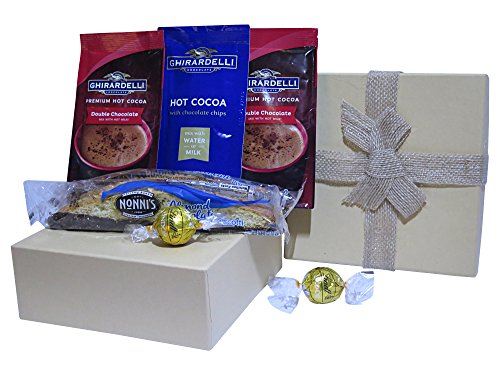 Mother's Day Gourmet Hot Cocoa Biscotti and Chocolate Gift Set for Mom