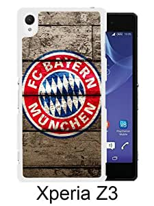 Newest Sony Xperia Z3 Case ,FC Bayern Munich Logo White Sony Xperia Z3 Screen Phone Case Popular Fashion And Durable Designed