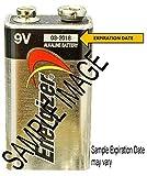 Energizer E522 Max 9V Alkaline battery Exp. 12/22