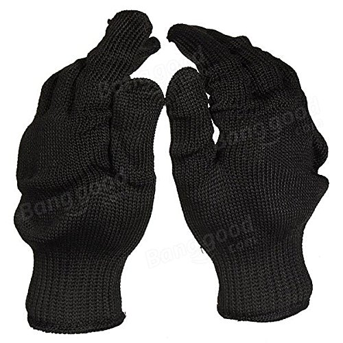 Black Stainless Steel Wire Safety Anti-Slash Gloves