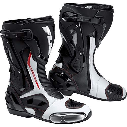 FLM Motorradschuhe, Motorradstiefel lang Motorradschuhe, Knöchelschutz, Belüftungssystem, Lüftungsschlitze, griffige…