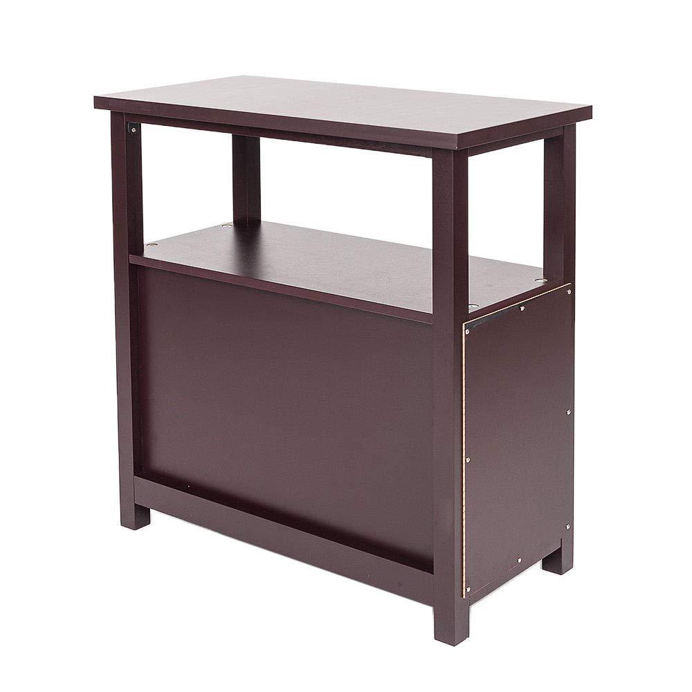 Amazon.com: Diamondgift - Mesa de café con dos cajones y ...