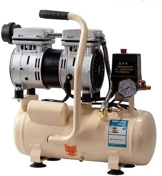 QWERTOUY 8L silencioso pequeño compresor de Aire de la Bomba de Aire portátil Bomba de Aire del compresor de Aire Libre de Aceite Pintura carpintería Dental: Amazon.es: Hogar