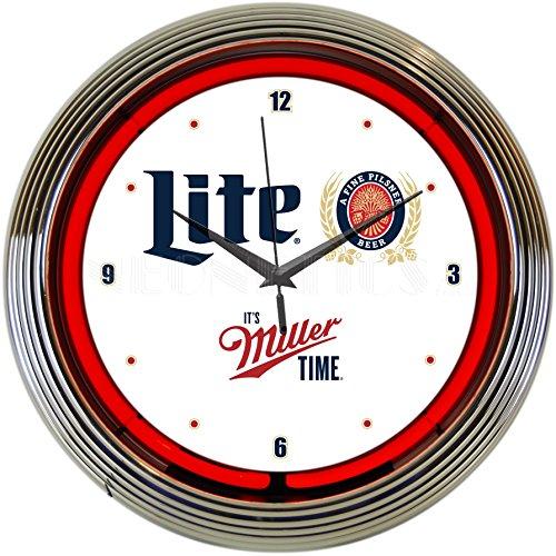 Neonetics 8MCMLL Miller Lite Its Miller Time Neon Clock