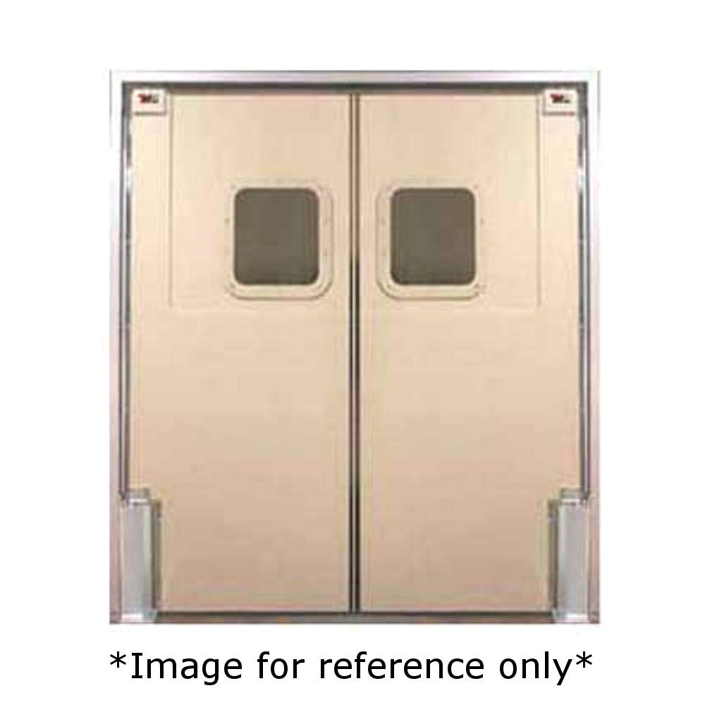 Curtron SPD-60-DBL-6096 Service-Pro Series 60 Insulated Swinging Doors 9 x 14 Window 60 x 96 0.250 ABS Sheet w//Textured Finish /& 16 Gauge Stainless Steel Reinforced Back Spine