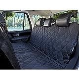 Pet Seat Cover for Cars - Black, WaterProof & Hammock Convertible