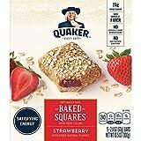 Quaker Baked Squares, Soft Baked Bars, Strawberry, 5 Bars