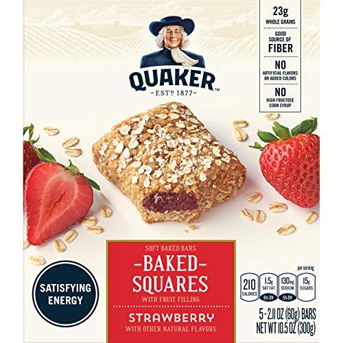(Quaker Baked Squares, Soft Baked Bars, Strawberry, 5 Bars)