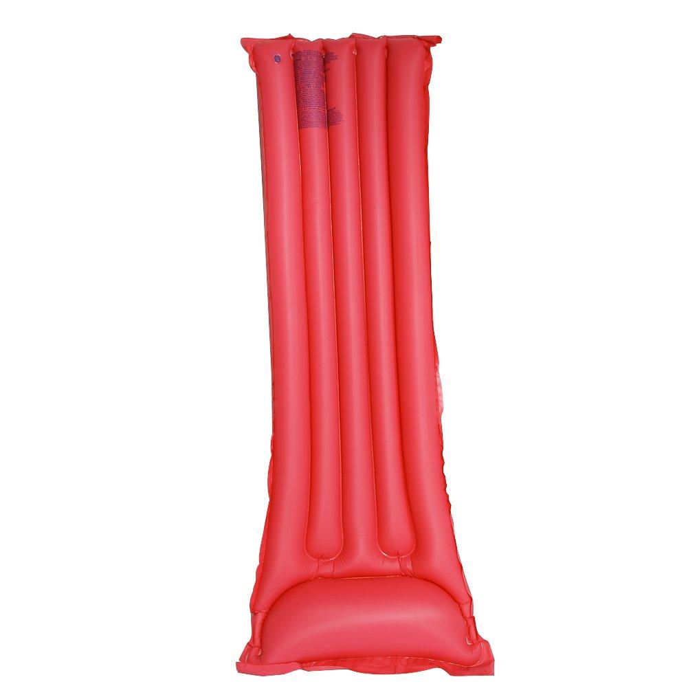 Yosoo 3 Colores PVC Tabla Cama flotante de la natación, Flotador de Piscina Playa para Adultos (Rojo): Amazon.es: Juguetes y juegos