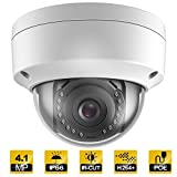 EziviewCCTV Outdoor 4.1 Megapixel POE Vandal Dome Ip Security Camera - IP66 Weatherproof