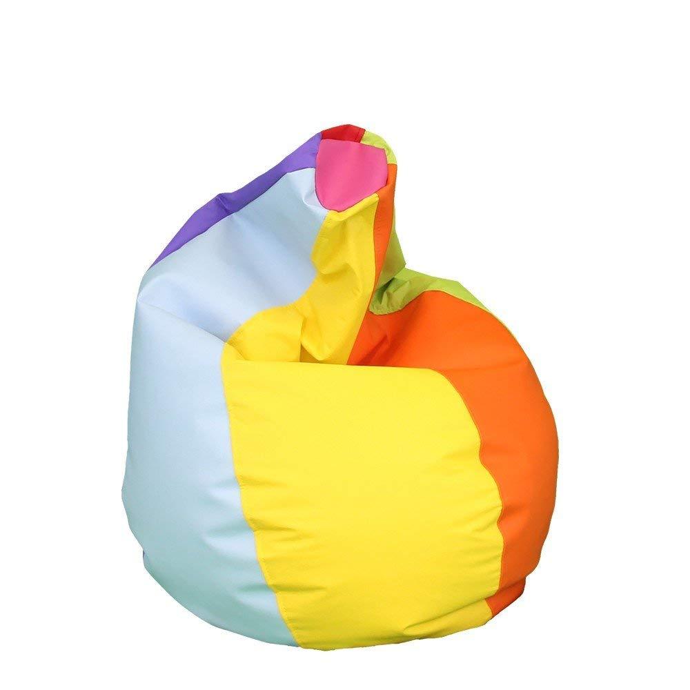 Happers Pera Puff XXL, Piel Sintética, Multicolor, 90x90x135 cm