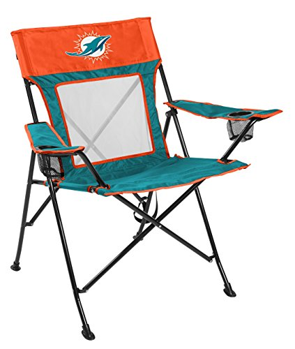 Rawlings NFL Miami Dolphins Unisex LP0065NFL Game Changer Chair, Orange, Adult
