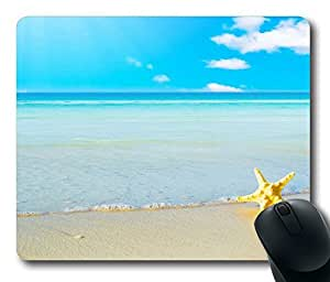 Design Mouse Pad Desktop Laptop Mousepads Starfish On The Beach 5 Comfortable Office Mouse Pad Mat Cute Gaming Mouse Pad by mcsharks