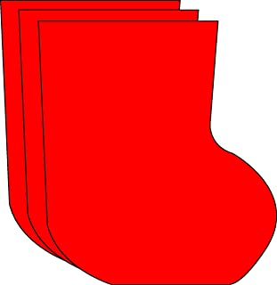 """product image for Stocking Large Single Color Creative Cut-Outs, 5.5"""" x 5.5"""", 31 Stockings to a Package"""