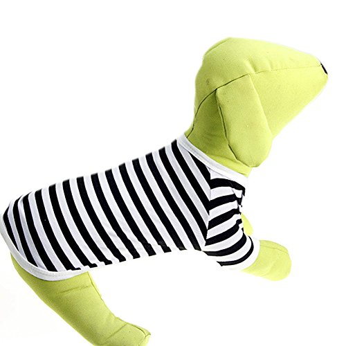 Delight eShop Pet Puppy Small Dog Cat Pet stripe Vest POLO T Shirt Apparel Clothes Summer (S) (Winnie The Pooh Vest Disney Costume)