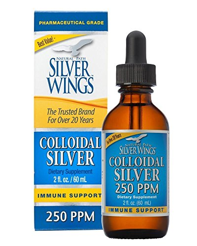 - Natural Path Silver Wings Colloidal Silver Mineral Supplement, 250 Ppm, 2 Fluid Ounce