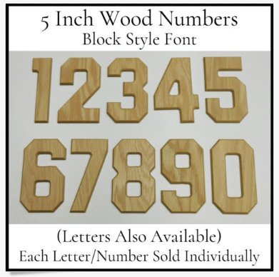 Amazon Com Wood Letters Numbers Hollywood Font 5 Inch