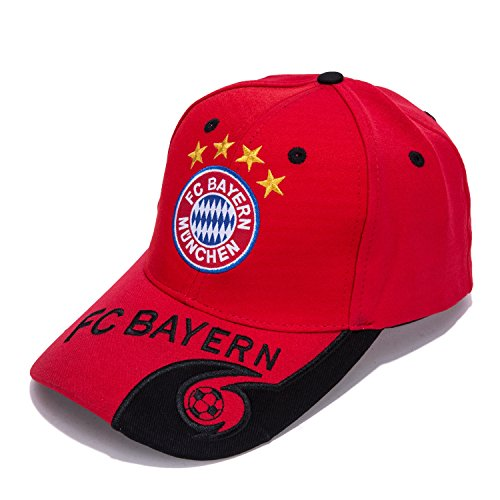 Bayern Munchen F.C. -Embroidered Authentic EPL Adjustable Red Baseball Cap – DiZiSports Store