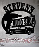 Corvette Auto Shop Garage Sign 23.5 x 22.25 Personalized Metal Sign - Metal Wall Art Gift